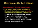 determining the past climate