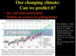 our changing climate can we predict it