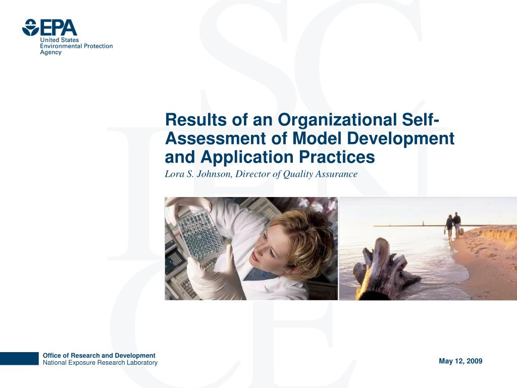 results of an organizational self assessment of model development and application practices l.