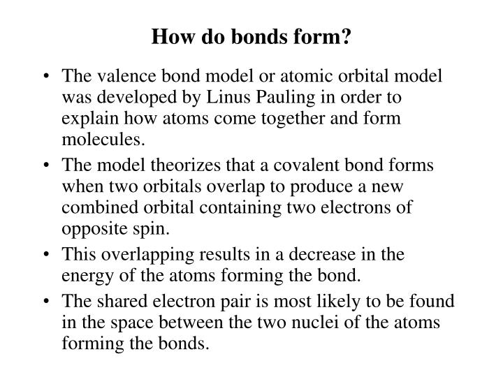 How do bonds form