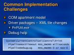 common implementation challenges