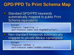 gpd ppd to print schema map