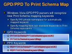 gpd ppd to print schema map29
