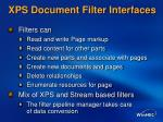 xps document filter interfaces