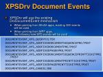 xpsdrv document events