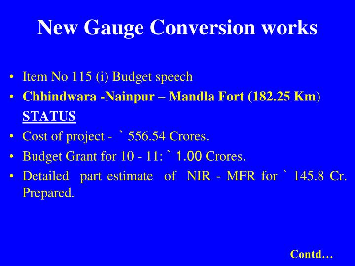 New gauge conversion works