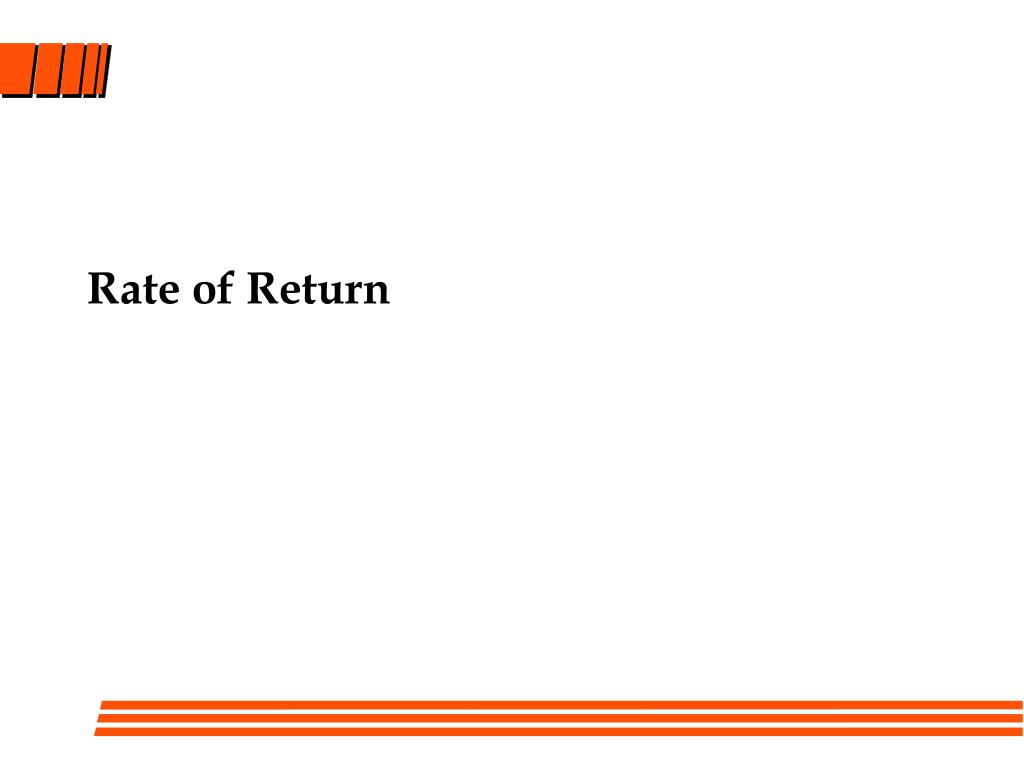 rate of return l.