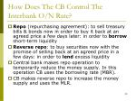 how does the cb control the interbank o n rate18