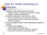 item 53 prefer interfaces to reflection