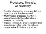 processes threads concurrency