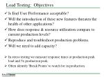 load testing objectives