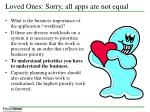 loved ones sorry all apps are not equal