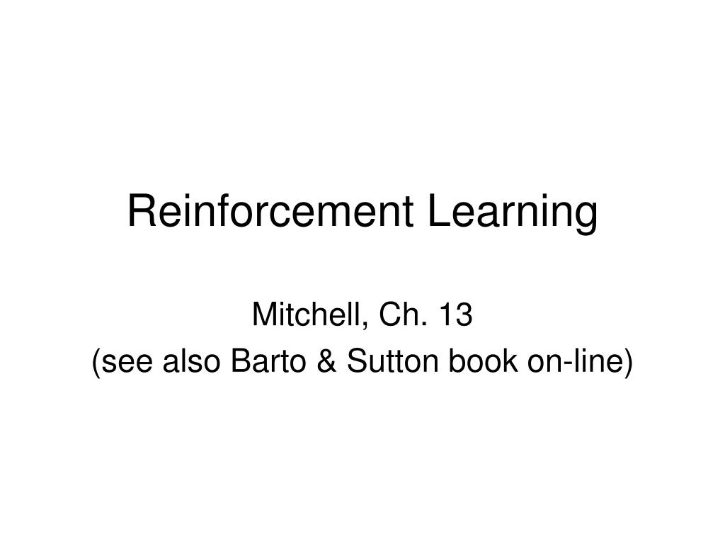 reinforcement learning l.