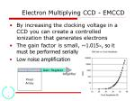 electron multiplying ccd emccd