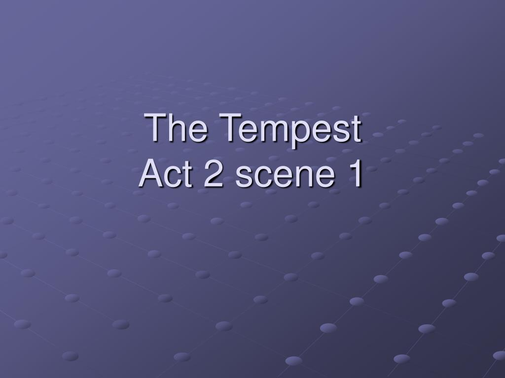 the tempest act 2 scene 1 l.