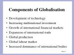components of globalisation