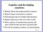 logistics and developing countries