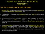 agency restrictions a historical perspective