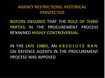 agency restrictions historical perspective2