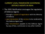 current legal framework governing defence agents in india2