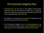 pre contract integrity pact