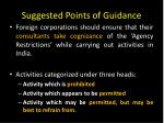 suggested points of guidance