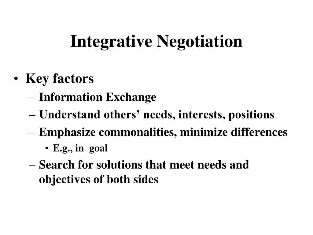 integrative negotiation l.