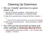cleaning up grammars