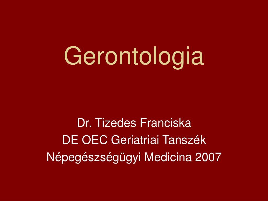 gerontologia l.