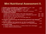 mini nutritional assessment ii