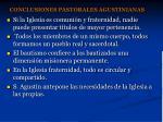 conclusiones pastorales agustinianas