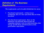 definition of the business requirements4