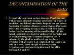 decontamination of the eyes