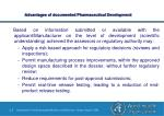 advantages of documented pharmaceutical development