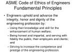 asme code of ethics of engineers fundamental principles