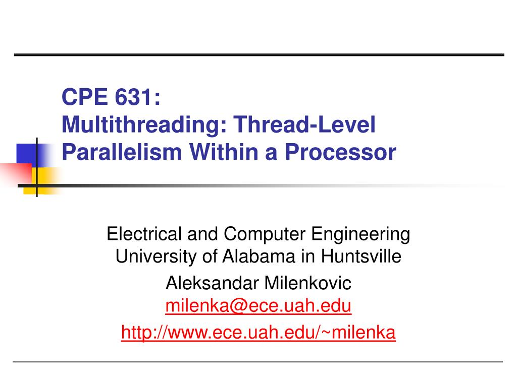 cpe 631 multithreading thread level parallelism within a processor l.