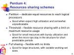 pentium 4 resources sharing schemes