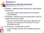 pentium 4 resources sharing schemes