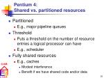 pentium 4 shared vs partitioned resources