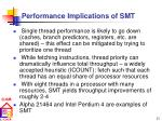 performance implications of smt