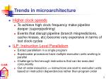 trends in microarchitecture