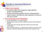 trends in microarchitecture