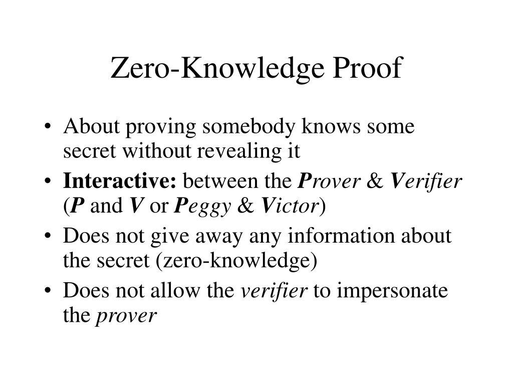 zero knowledge proof l.