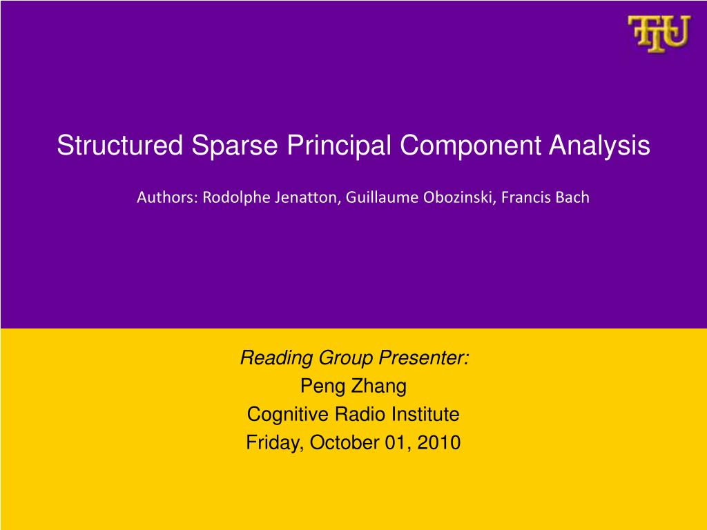 structured sparse principal component analysis l.