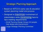 strategic planning approach