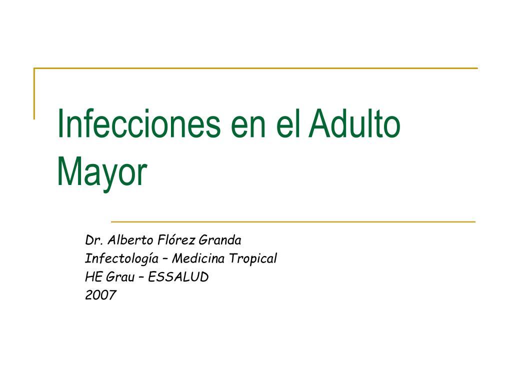 infecciones en el adulto mayor l.