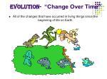 evolution change over time