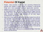 potential of karjat