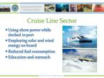 cruise line sector
