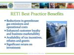 reti best practice benefits